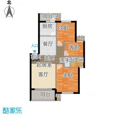 长坡社区90.00㎡户面积9000m户型