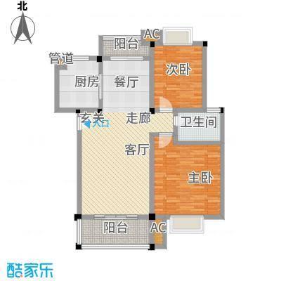 博雅湘水湾94.52㎡8栋面积9452m户型
