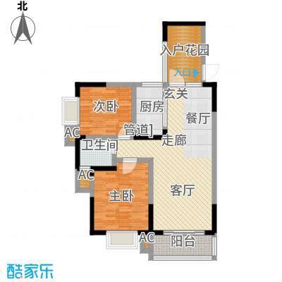 博雅湘水湾88.96㎡3栋面积8896m户型