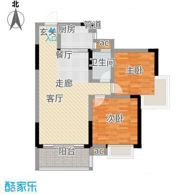 博雅湘水湾87.54㎡8-9栋面积8754m户型