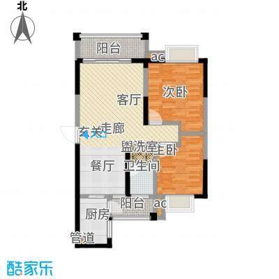 博雅湘水湾87.74㎡3栋面积8774m户型