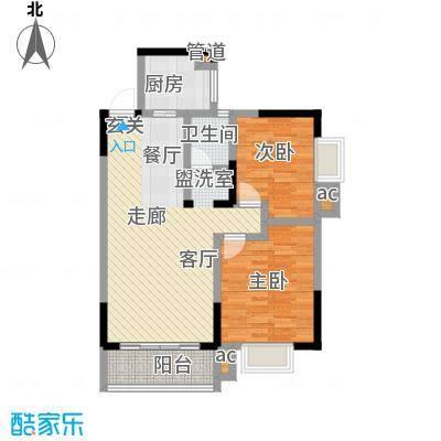 博雅湘水湾87.68㎡3栋面积8768m户型