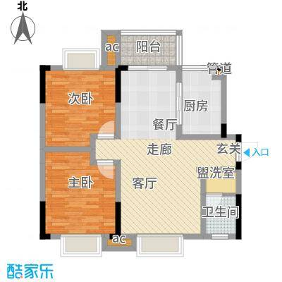 博雅湘水湾88.86㎡3期8-9栋2面积8886m户型