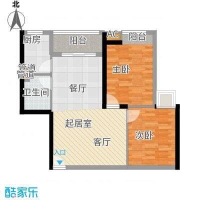 湘域中央85.00㎡户面积8500m户型