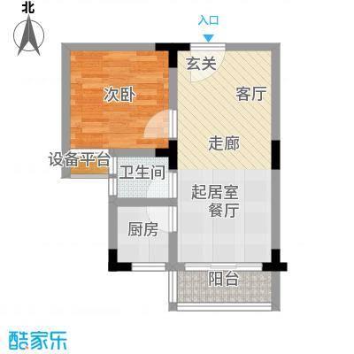 诚兴园49.77㎡7、9-14、12A号栋面积4977m户型