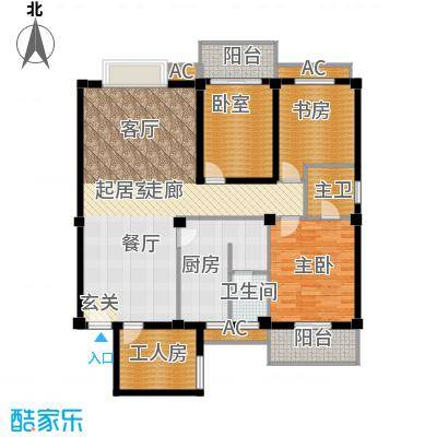 马王堆陶瓷建筑新城2户型