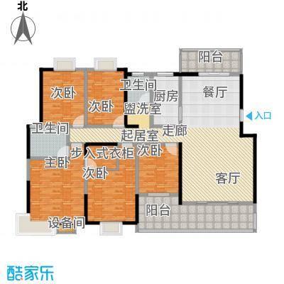 鸿铭中心南苑221.00㎡1面积22100m户型