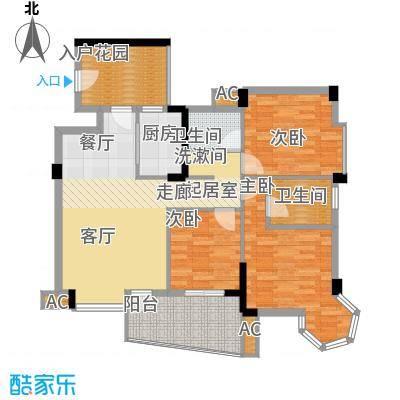 西城龙庭8号楼D4两户型