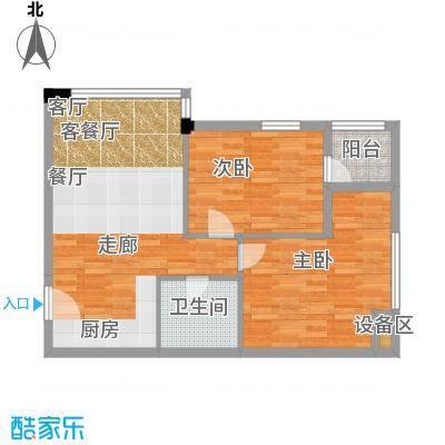 西子花苑83.00㎡精装B1面积8300m户型
