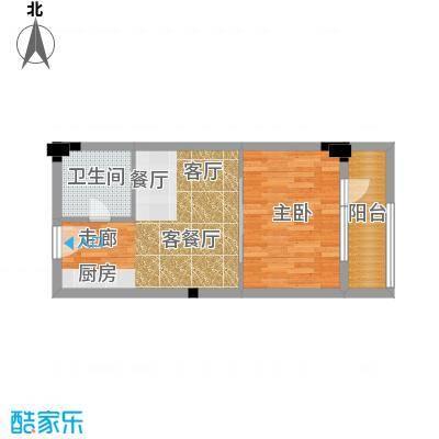 西子花苑51.00㎡精装G1面积5100m户型
