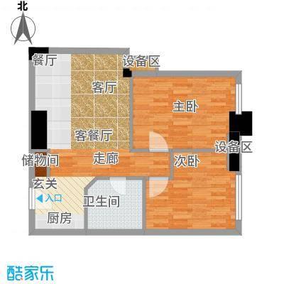 西子花苑72.00㎡精装E12面积7200m户型