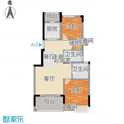茂华国际湘100.00㎡2L-A2面积10000m户型