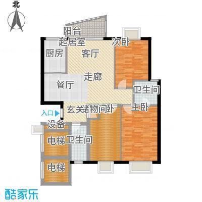 一心花苑119.67㎡百合轩2面积11967m户型