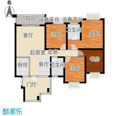 湘江世纪城聚江苑118.00㎡面积11800m户型