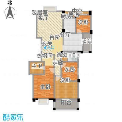中江国际花城158.00㎡158面积15800m户型