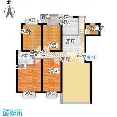 鑫天山水洲城157.53㎡C32面积15753m户型