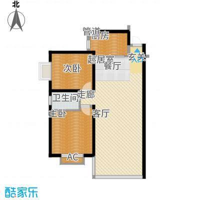 鑫天山水洲城96.08㎡A11面积9608m户型