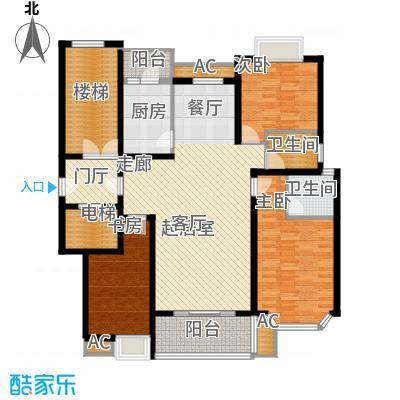 福乐康城139.53㎡B3面积13953m户型