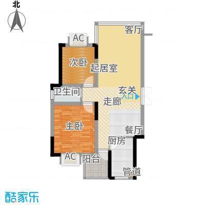 鑫天山水洲城104.91㎡10491面积10640m户型