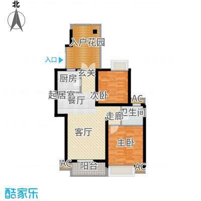 湘江世纪城揽江苑94.00㎡面积9400m户型