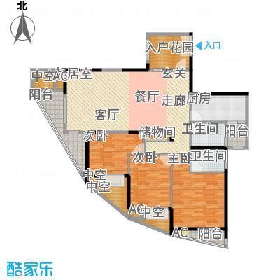顺天黄金海岸136.58㎡三期B2面积13658m户型