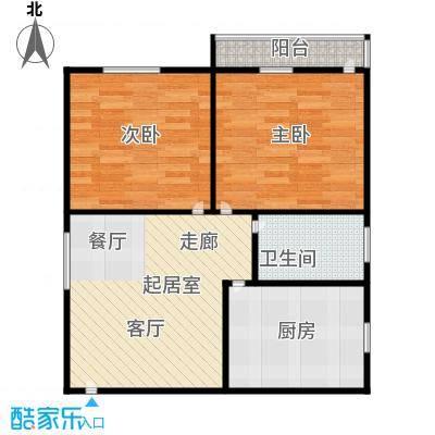 德胜新村58.00㎡面积5800m户型