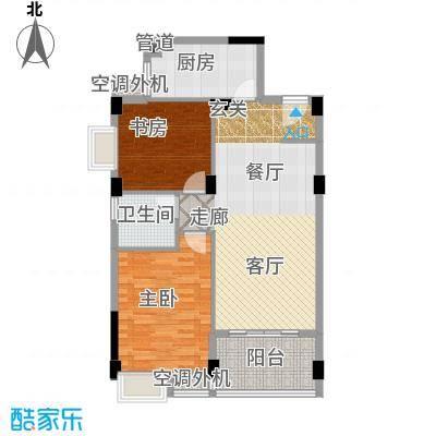 湘江北尚91.00㎡D面积9100m户型