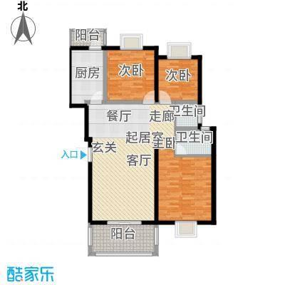 三江花中城115.80㎡21号楼b面积11580m户型