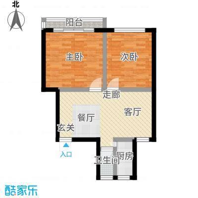 德胜东村57.00㎡面积5700m户型