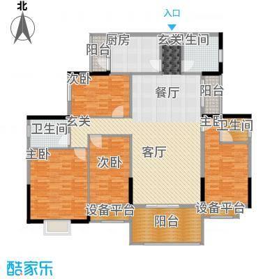 长沙玫瑰园148.00㎡25#楼面积14800m户型