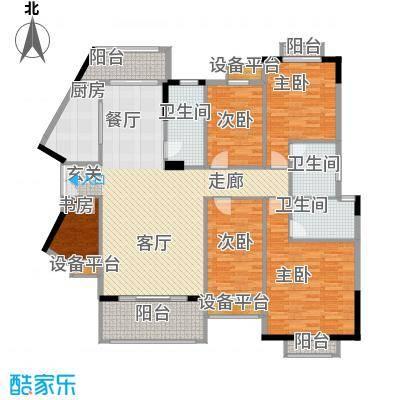 长沙玫瑰园162.30㎡19#楼面积16230m户型