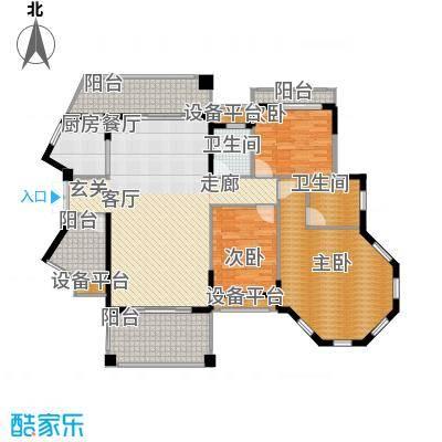长沙玫瑰园138.00㎡15#楼面面积13800m户型