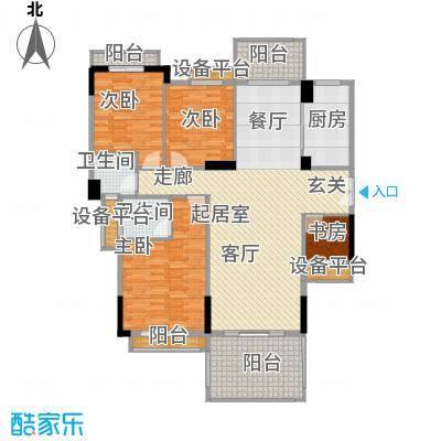 长沙玫瑰园150.00㎡15#楼面面积15000m户型
