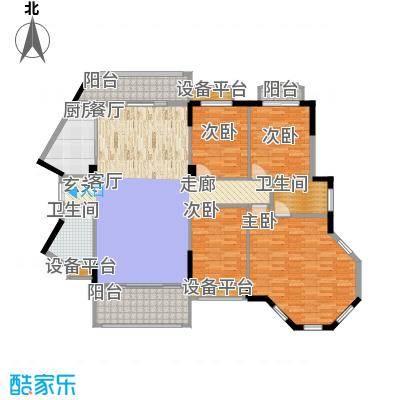 长沙玫瑰园168.00㎡27#楼03面积16800m户型