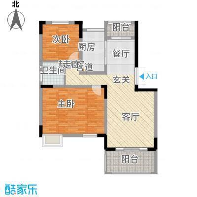 凯乐湘园108.37㎡J1面积10837m户型