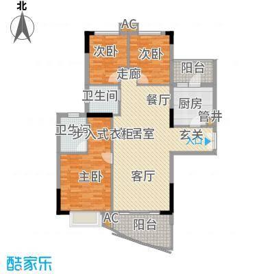 珠江花城110.00㎡4、6、8栋面积11000m户型