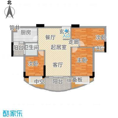 珠江花城90.00㎡4、6、8栋面积9000m户型