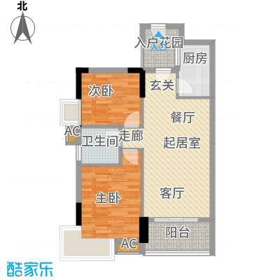 珠江花城74.00㎡三期2面积7400m户型