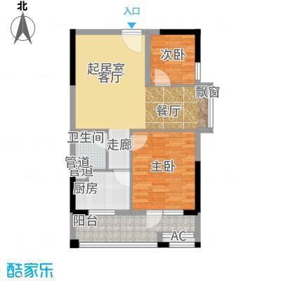 锦湘国际星城75.39㎡K6面积7539m户型