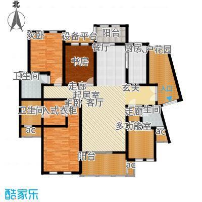 中隆国际御玺204.05㎡5号楼P面积20405m户型