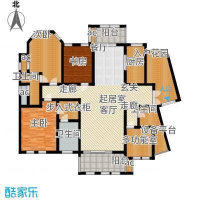 中隆国际御玺193.80㎡2号楼I面积19380m户型