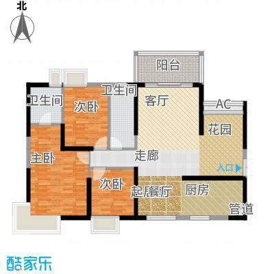 滨江君悦香邸131.31㎡B1面积13131m户型