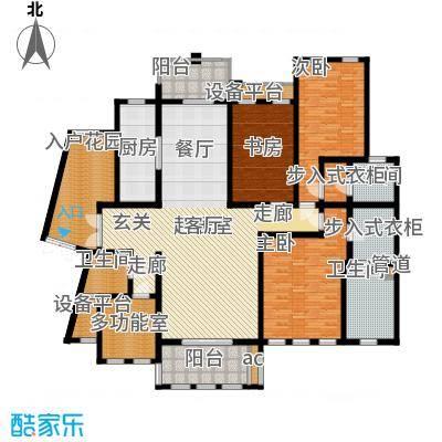中隆国际御玺217.22㎡2号楼J面积21722m户型