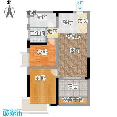 鑫远湘府华城77.36㎡1/3栋C2面积7736m户型