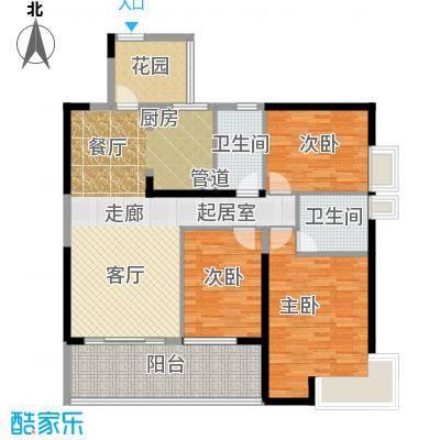 滨江君悦香邸129.76㎡B2面积12976m户型