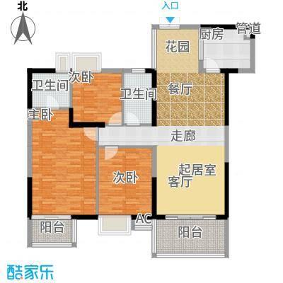 滨江君悦香邸135.32㎡B3面积13532m户型