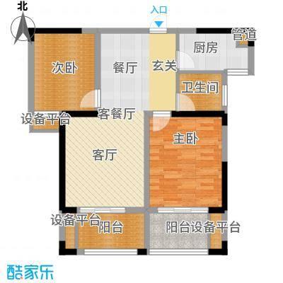 鑫远湘府华城87.46㎡二期C4面积8746m户型