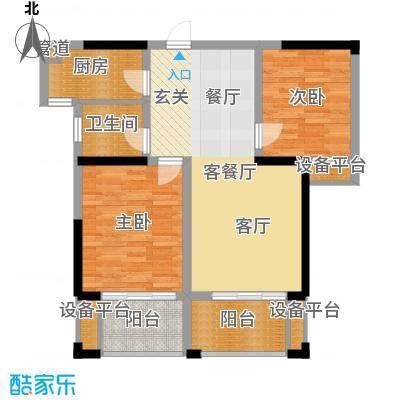 鑫远湘府华城87.91㎡二期C4-1户面积8791m户型