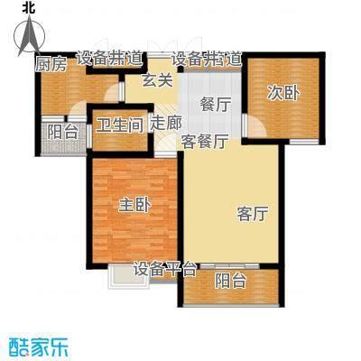 鑫远湘府华城91.00㎡1面积9100m户型