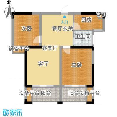 鑫远湘府华城88.59㎡2/4栋C4面积8859m户型